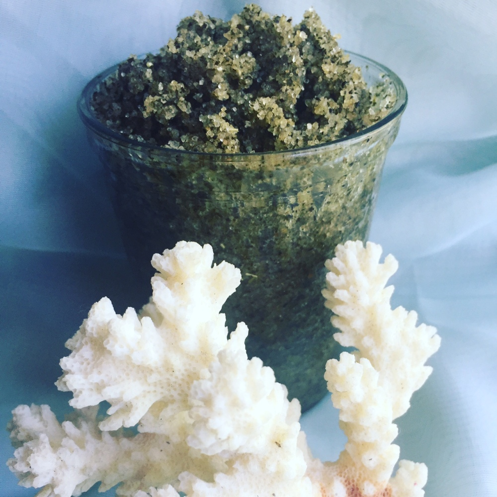 Vegan Green Tea and mint Essential Oil Sugar Scrub